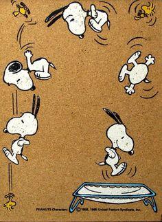 Trampolining Snoopy