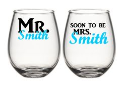 Hey, I found this really awesome Etsy listing at https://www.etsy.com/listing/238841383/mr-and-soon-to-be-mrs-wine-glass-set-his