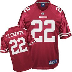 49ers  22 Nate Clements Red Embroidered NFL Jerseys! Only  18.50USD Frank  Gore 4027b33c8