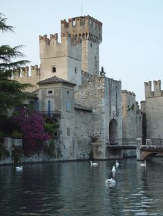 Sirmione, Scaliger castle (Castello Scaligero), Lake Garda