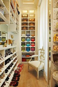 Sit back and take in the breath-taking view of your shoes—in a luxe armchair of course. Courtesy Pinterest  - ELLE.com