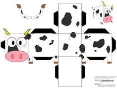 Image detail for -Free Cow Paper Craft Cow Paper Toy Pdf 3d Paper Crafts, Paper Toys, Foam Crafts, Cow Craft, Paper Cube, Paper Box Template, Origami Templates, Box Templates, Animal Templates