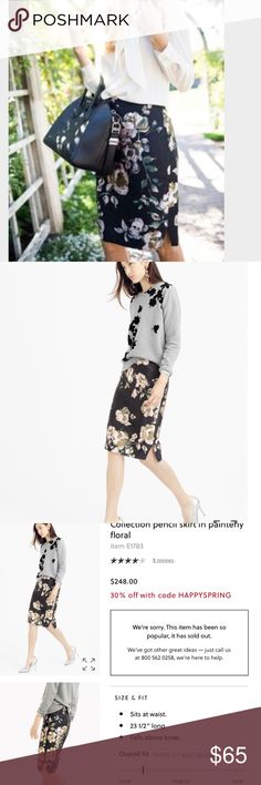 J.crew collection skirt in painterly floral Excellent condition J. Crew Skirts