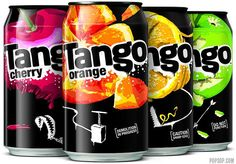 Tango Soda range #packaging