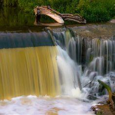 'Grafton Dam and Waterfall' by James Meyer Grafton Wisconsin, Port Washington Wisconsin, Stuff To Do, Things To Do, Milwaukee, Waterfall, Inspire, Outdoor, Beautiful
