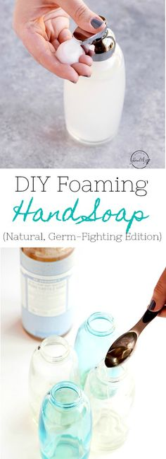 How to make easy DIY foaming hand soap, and bonus points that it supports a strong immune system. #DIY #essentialoils #foaminghandsoap APinchOfHealthy.com