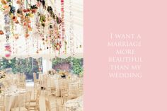 I want a marriage more beautiful than my wedding www.gracetheday.com
