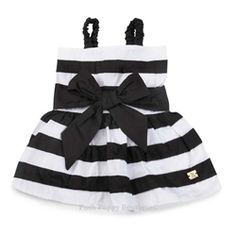 Gingham Collection Stripe Dress - Apparel -Dress Posh Puppy Boutique