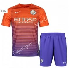 2016-17 Manchester City 2nd Away Orange Thailand Soccer Uniform
