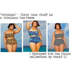 """The Fabulous Fatkini"" by chargemagazine on Polyvore"