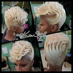 Cute but not in blond! Love Your Hair, Great Hair, Short Hair Cuts, Short Hair Styles, Afro, Sassy Hair, Hair Affair, Pretty Hairstyles, Updo Hairstyle