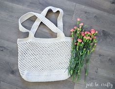 Crochet Farmer's Market Bag Pattern - Free Pattern by Just Be Crafty