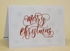 #SSS #SSSfave Simon says Stamp Merry Christmas embossed with Wow!heart throb and for the Leane creatief snowflakes on the background I used Wow! clear hologram sparkle embossing glitter . with video https://www.youtube.com/watch?v=7f4pGGCbQ9o