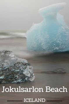Jokulsarlon beach - When stopping at the lagoon on the South Coast of Iceland don't forget to cross the road and get to the black sand beach where the icebergs often wash off!!!! - Click to open the guide with many photos and detailed information to plan your visit