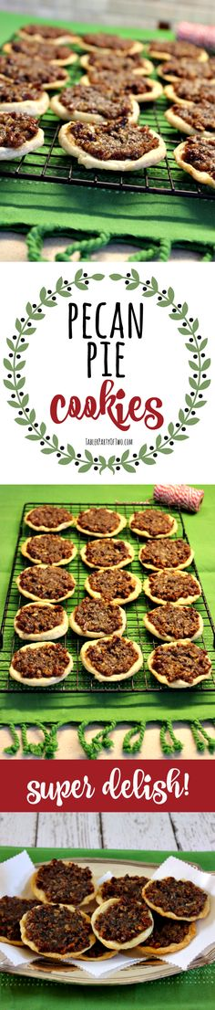 Pecan Pie Cookies - so amazing! Like indulging in a mini pecan pie for one.