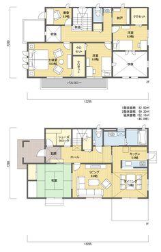 間取り 2階建 40~50坪 西玄関