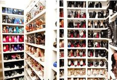 Shoe HEAVEN...SERIOUSLY! Shoe Heaven! lol Closet Design .:. Storage Solutions