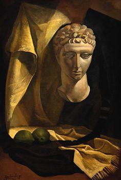 Lino Enea Spilimbergo (1896 - 1964) Naturaleza muerta, 1936 óleo sobre tela- 112 x 75 cm Firmado y fechado en el ángulo inferior izquierdo. Ingresó en 1937. Donación del Jockey Club Rosario