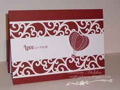 Love the use of the punch - Valentine by Harvey's mum - Cards and Paper Crafts at Splitcoaststampers