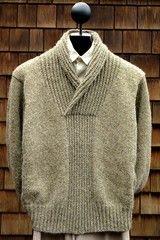 Ravelry: Shawl Collar Pullover pattern by Mari Dembrow Mens Knit Sweater Pattern, Shawl Collar Sweater, Sweater Knitting Patterns, Pullover Sweaters, Men Sweater, Mens Cable Knit Sweater, Knitting Sweaters, Free Knitting, Crochet Patterns