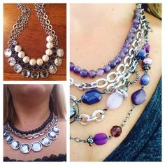 """""""Purple Haze"""" pops even more when paired with #infinitme #genuine #amethyst #liasophia #necklace and extra #chain.  SO interesting!"""