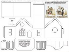 Glitter House Template Collage Sheet
