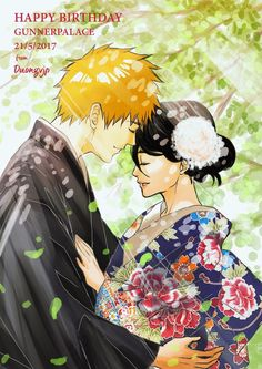 BLEACH - A long bonded fate (IchiRuki) by Yami-no-Takemaru on DeviantArt Ichigo E Rukia, Rukia Bleach, Bleach Fanart, Bleach Manga, Bleach Couples, Anime Merchandise, Shinigami, Kpop Fanart, Softies