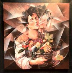 """""""Tributo a Caravaggio""""  Tecnica: acrilico  cm 80 x 80  Anno  2011"""
