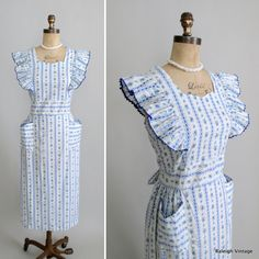 vintage 1950s pinafore dress - larger size AND never worn! http://www.etsy.com/listing/97610416/vinage-1950s-dress-50s-pinafore-day  #vintage #dress #1950s