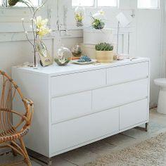 Hudson 6-Drawer Dresser - White | west elm