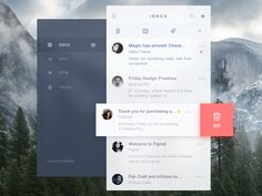 Email Client by Honglu #Design Popular #Dribbble #shots