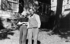 Vladimir and Vera Nabokov outside their rented home in Ithaca, N.Y., in 1951. There, Nabokov completed his autobiography and began Lolita.--'Lolita' And Lollipops: What Nabokov Had To Say About Nosh