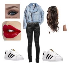 """""""School outfit"""" by jaelynn04 ❤ liked on Polyvore featuring косметика и adidas"""