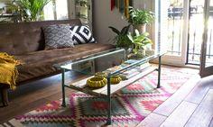 DIY copper pipe coffee table · DIY mesa de centro con tubos de cobre
