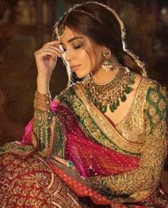 indian wedding dresses with sleeves Muslim Wedding Dresses, Pakistani Bridal Dresses, Indian Wedding Outfits, Pakistani Outfits, Bridal Outfits, Indian Dresses, Indian Outfits, Bridal Anarkali Suits, Bridal Lehenga
