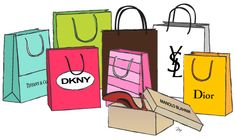 shopping bags #fashionillustration by Martina P.