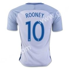 2016 European Cup England ROONEY Home White Thailand Soccer Jersey