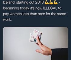 ✨We need to have that law! Go Iceland!!! << We DO have that law, but no one is following it