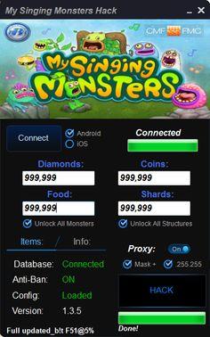 My sinsing monsters hack