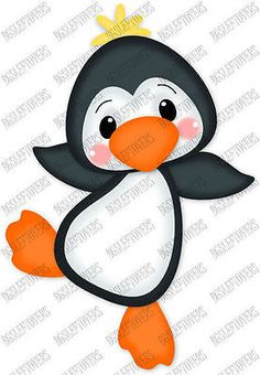 S~ 3D PENGUIN ~ Scrapbook Embellishment TM996