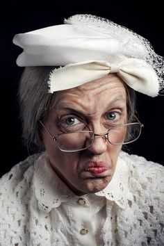 Old lady makeup with only facepaints. | Ideas! | Pinterest ...