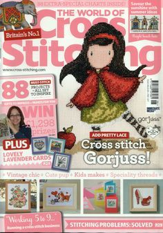 The World of Cross Stitching Issue 206 patterns pinned