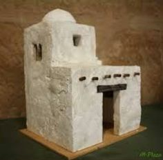 Nativity House, Christmas Nativity, Christmas Crafts, Christmas Decorations, Christmas Ornaments, Dollhouse Miniature Tutorials, Dollhouse Miniatures, Paper Mache Crafts, Wood Crafts