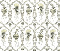 Gooey the XVI and Marie Antoinettle fabric by ceanirminger on Spoonflower - custom fabric. Can we have this jon? PLLEEAASSEE!