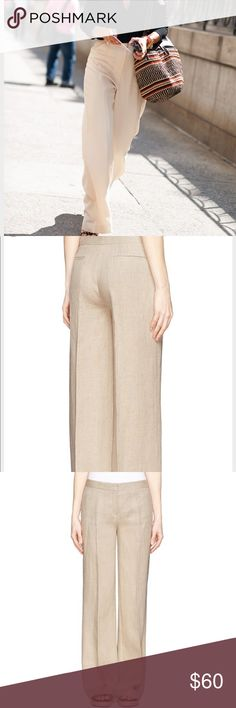 Theory Linen Pants Like new. great conditon. beautiful fabric. linen and virgin wool. Theory Pants