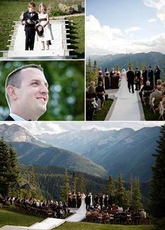 Colorado Wedding.......... I want this view! But in the smoky mtns!! ;-)