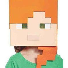 Minecraft Alex Toys Mask Minecraft Creeper Halloween Costume, Minecraft Costumes, Minecraft Birthday Party, Creeper Minecraft, Minecraft Skins, Minecraft School, Play Minecraft, Cake Minecraft, Minecraft Memes