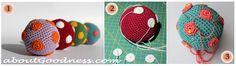 Bola de Amigurumi patrón libre. Si le incluimos en el relleno un cascabel, tanto nuestro bebé como nuestro gato, se lo pasarán en grande!
