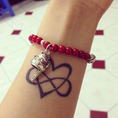 My first tattoo, love infinity