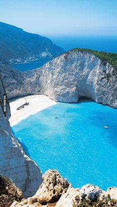 Zakynthos, Greece. Navaggio beach